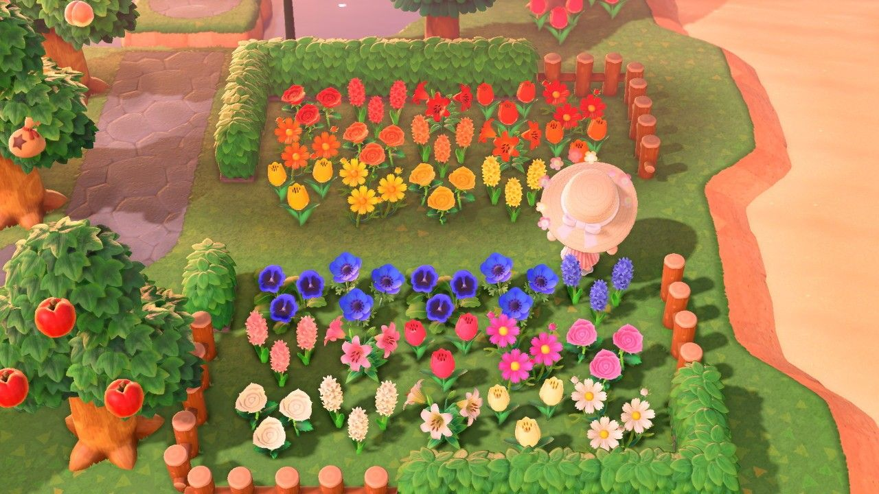 Animal Crossing New Horizon Rainbow Flower Garden Animal Crossing New Animal Crossing Rainbow Flowers