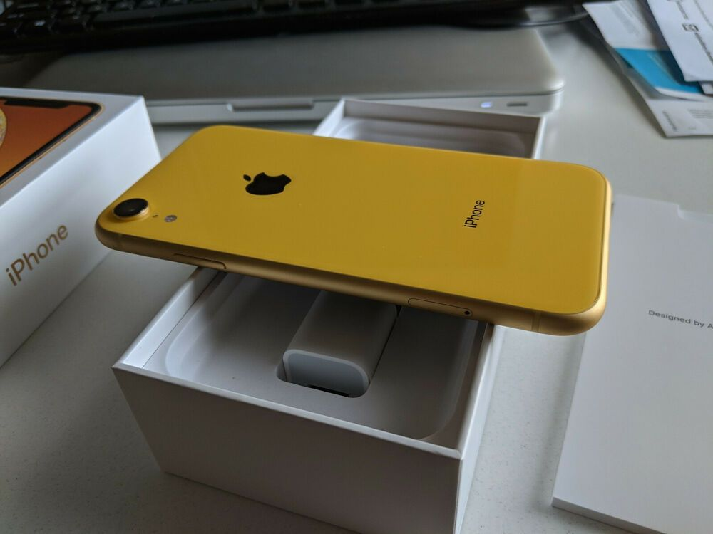 Apple Iphone Xr 256gb Yellow Unlocked A1984 Cdma Gsm