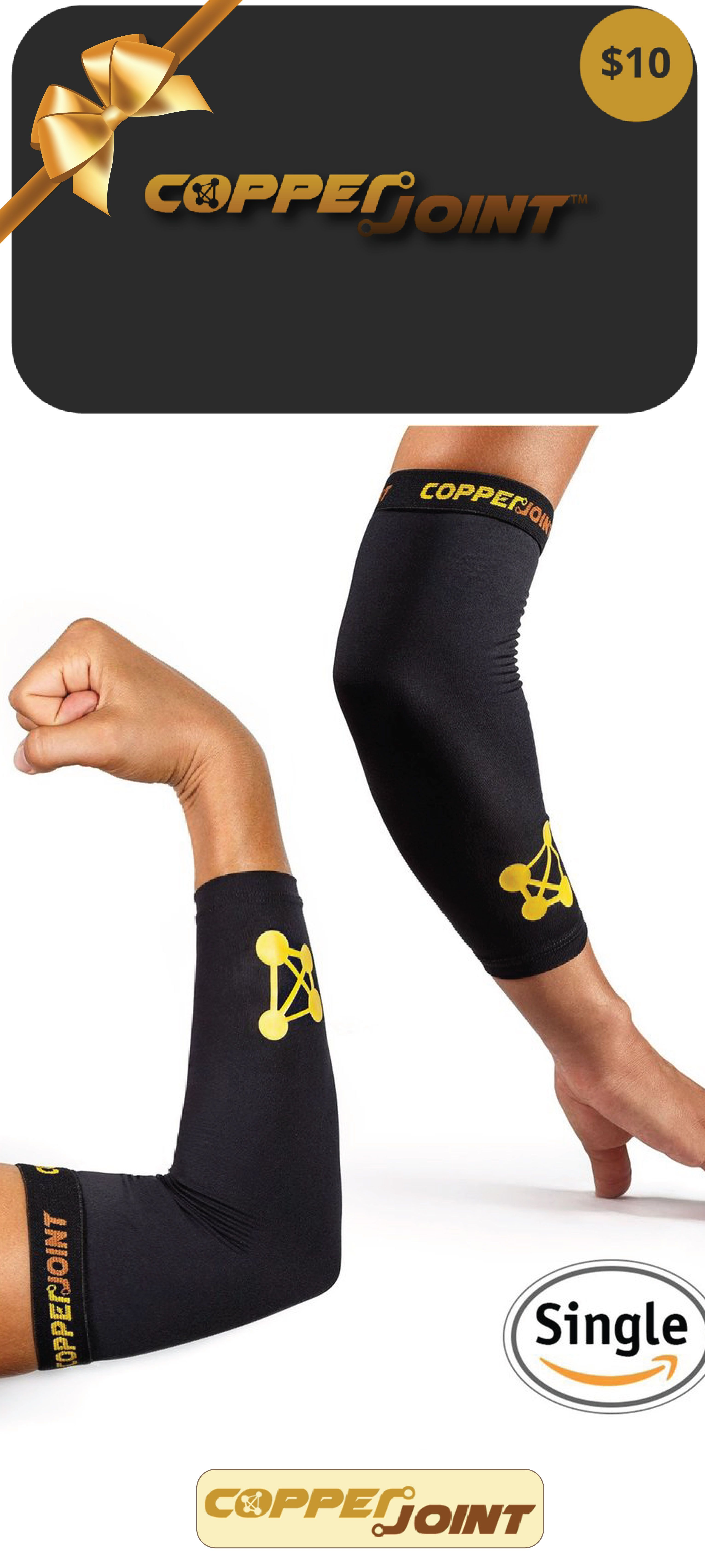 High-Performance Design Promotes Proper Blood Flow to Help Improve Circulation and Support Healing for All Lifestyles Single Sleeve Large CopperJoint Copper-Infused Compression Elbow Sleeve