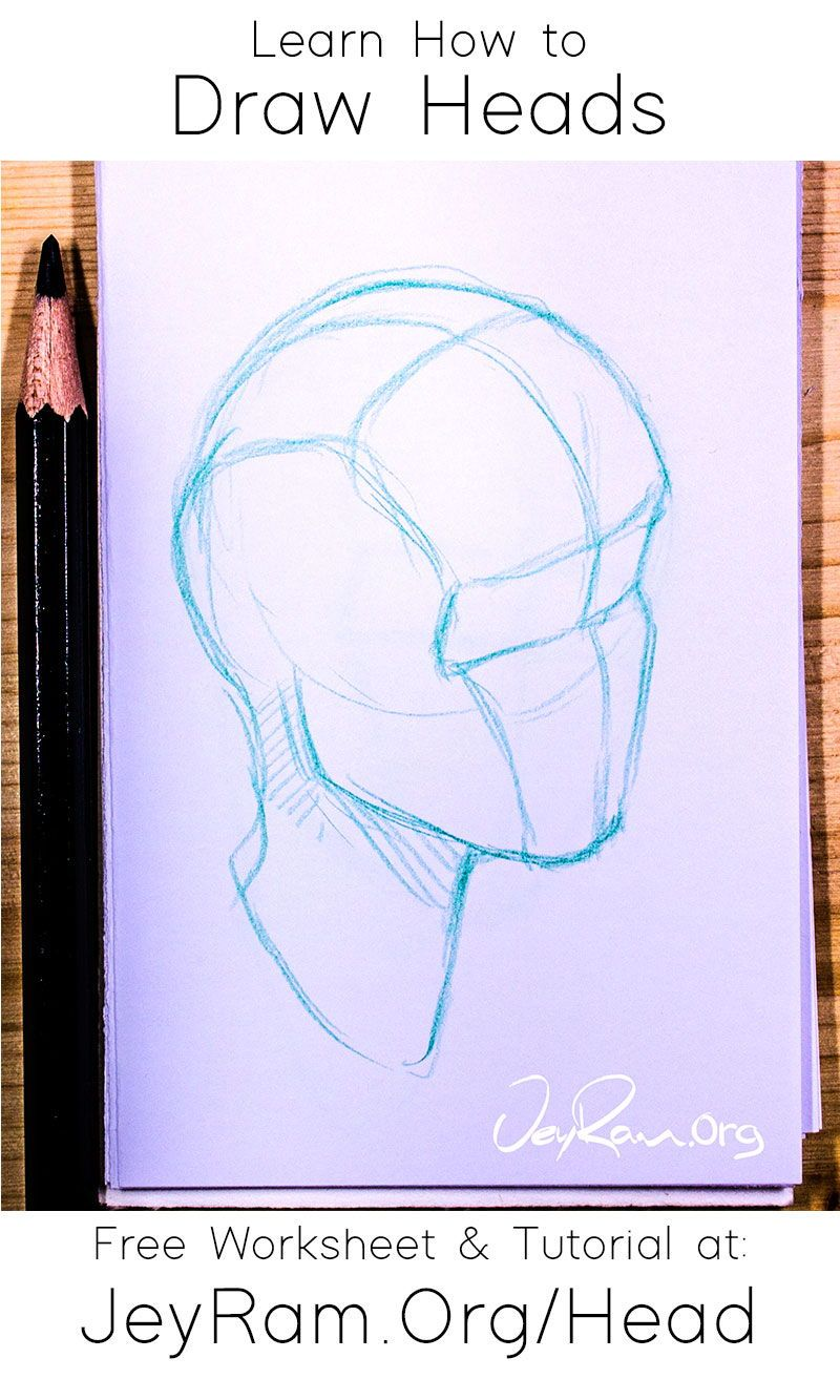 How to Draw the Head from Any Angle: Free Worksheet & Video Tutorial