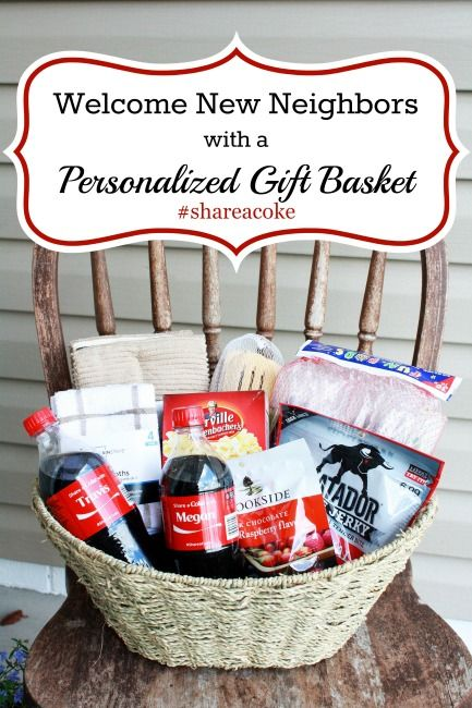 Welcome neighbors with a personalized coke gift basket gift welcome neighbors with a personalized coke gift basket negle Choice Image