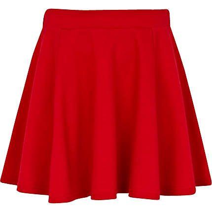 Girls red skater skirt - skirts - girls taylor swift concert ...