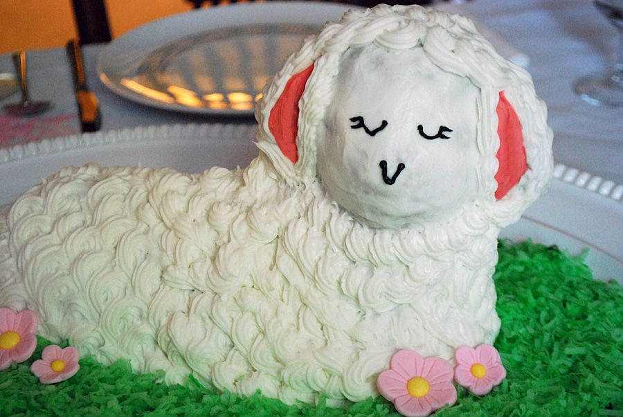 how to decorate an easter lamb cake - How To Decorate A Cake