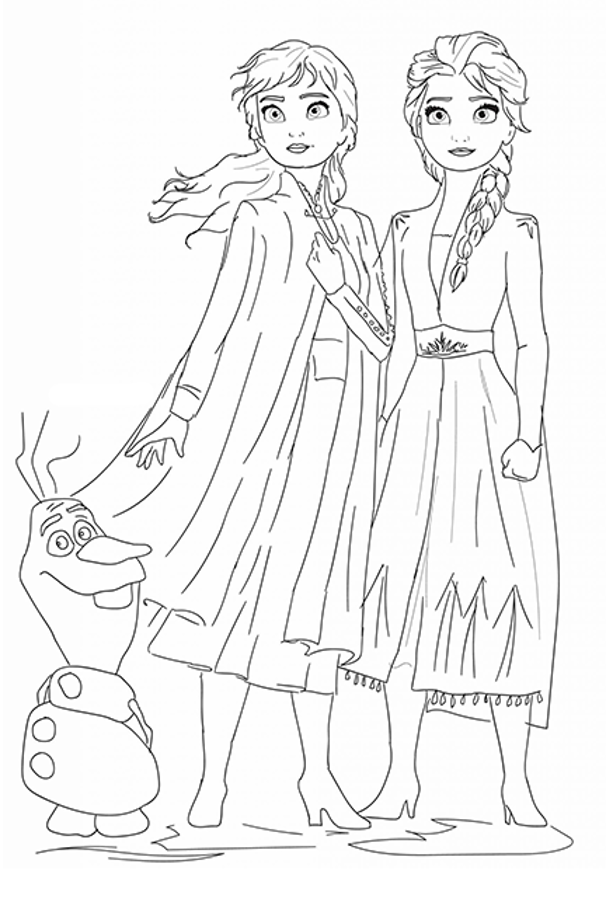 Frozen 2 Coloring Book Gift Elsa Coloring Pages Frozen Coloring Pages Disney Princess Coloring Pages