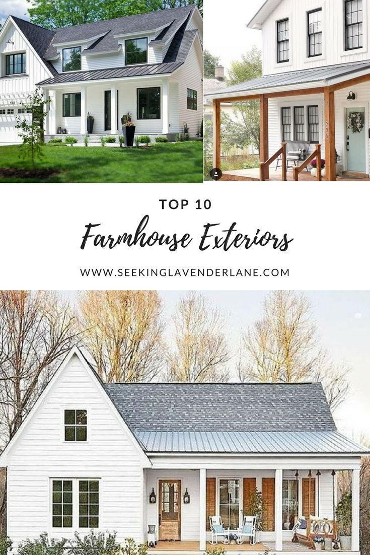 Top 10 White Farmhouse Exteriors Modern farmhouse