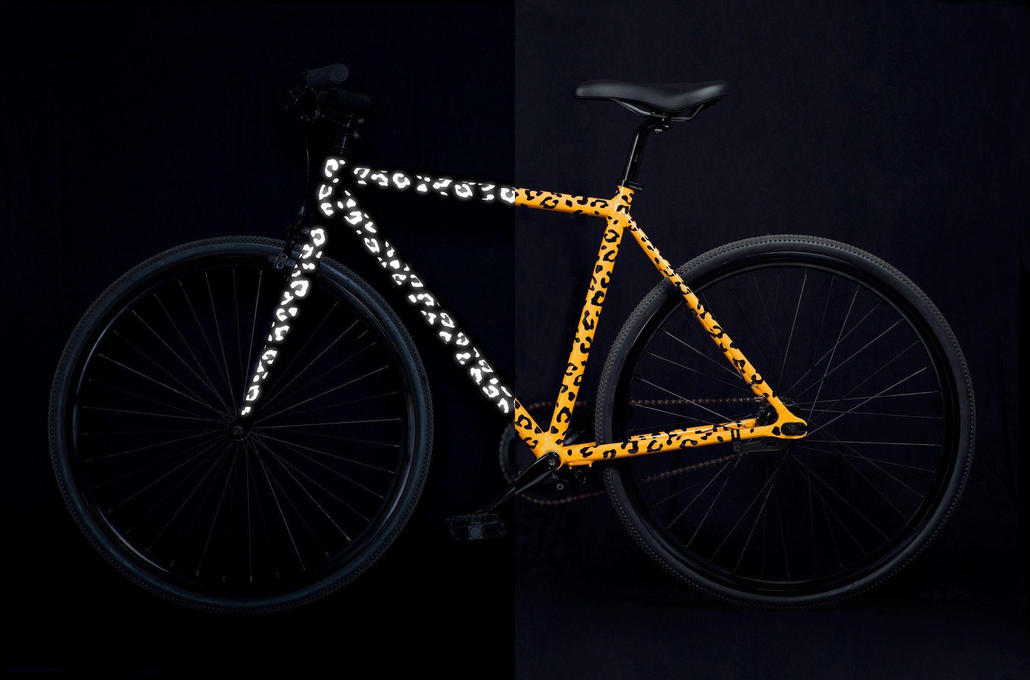 Reflective Stickers for Bikes Leopard Print Bike