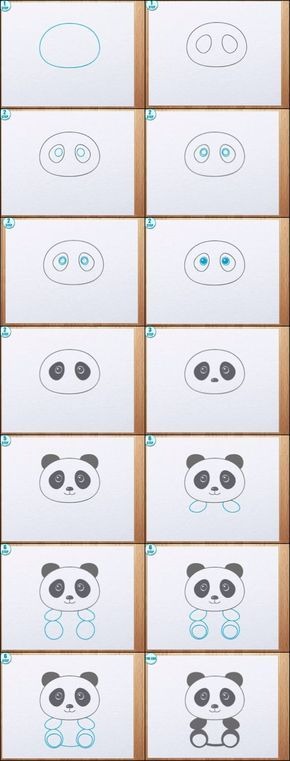 Comment dessiner un panda manga - Panda a dessiner ...