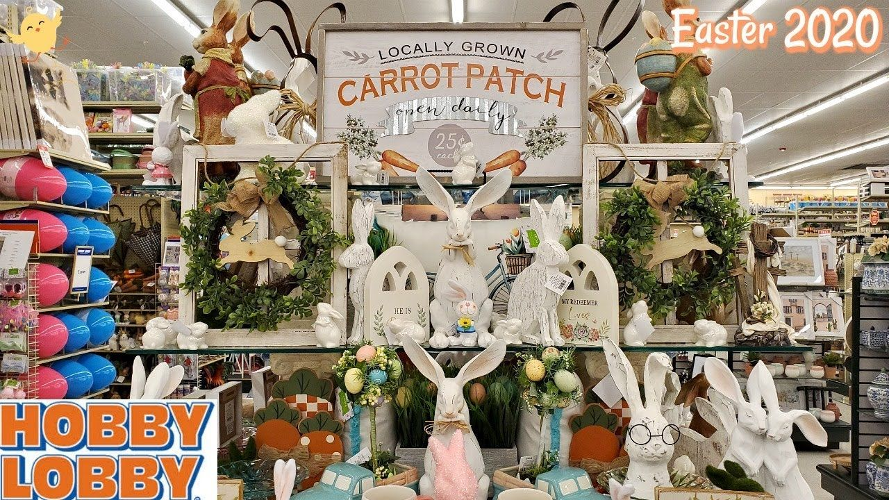 Hobby Lobby Easter Decorations Shop With Me 2020 In 2020