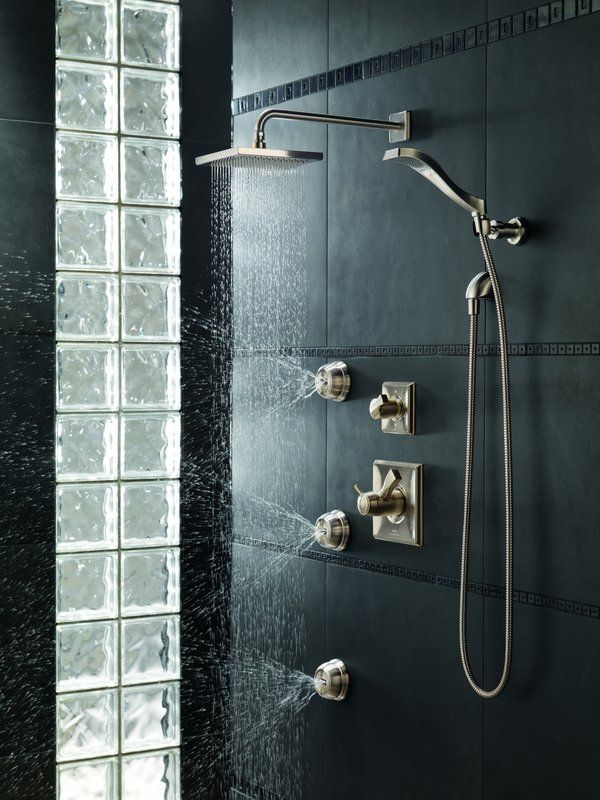 Delta Dryden Tempassure Shower Package Ch Chrome With Thermostatic Trim Diverter Trim And 3 Body Sprays Faucetdirect Com Shower Systems Shower Heads Shower Panels Shower systems with body jets