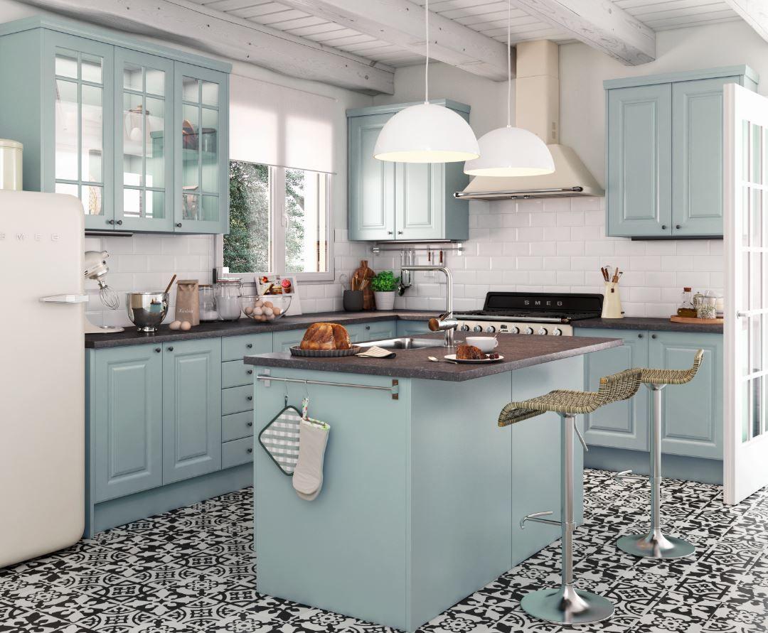 Te gustan las cocinas retro? en 2019   Cocinas, Cocinas ...