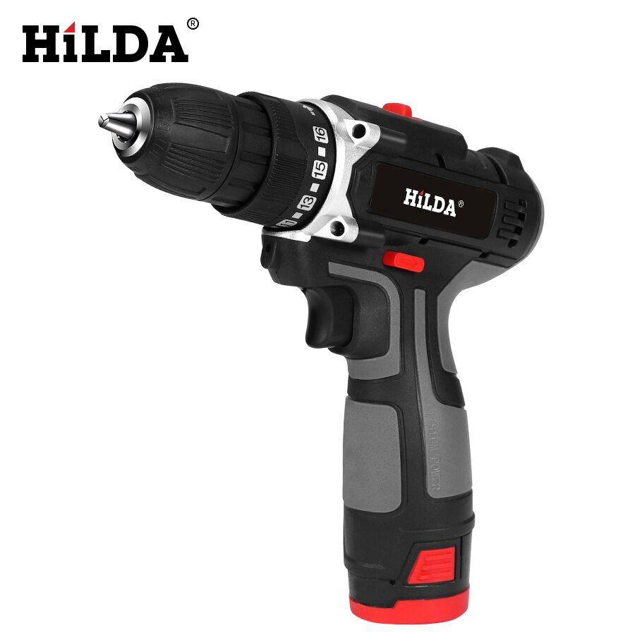Hilda Electric Drill With Rechargeable Lithium Battery Electric Screwdriver Cordless Screwdriver Two Electric Screwdriver Electric Drill Cordless Screwdrivers