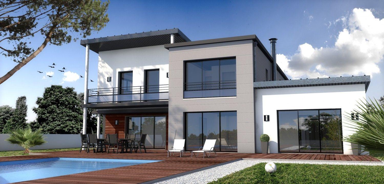 Constructeur maison moderne la roche sur yon vend e 85 depreux construction ext rieurs for Maison contemporaine vendee
