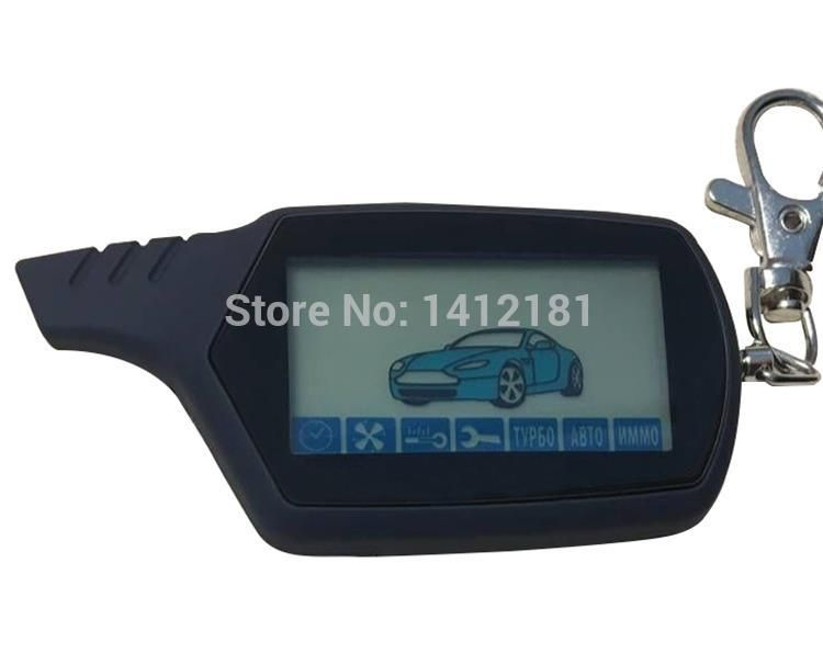 A91 2-way LCD Remote Control Key Fob For Russian Anti-theft Vehicle Security