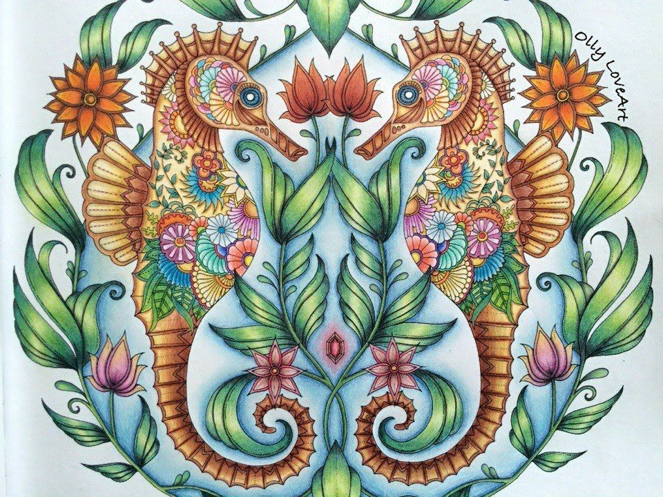 SEAHORSES From Lost Ocean Coloring Book