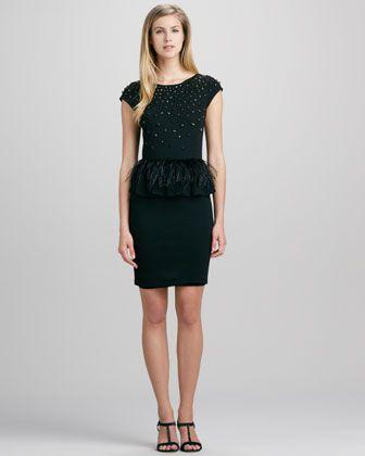 cc9b34af09cc Alice + Olive Luma Feather-Peplum Dress - CUSP   Fashion I Must Own ...