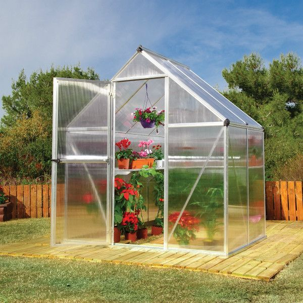 Palram 6 x 4 ft. Silver Mythos Hobby Greenhouse HG5005