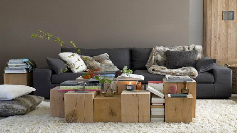 chambre couleur lin taupe et blanc - Idee Deco Salon Taupe