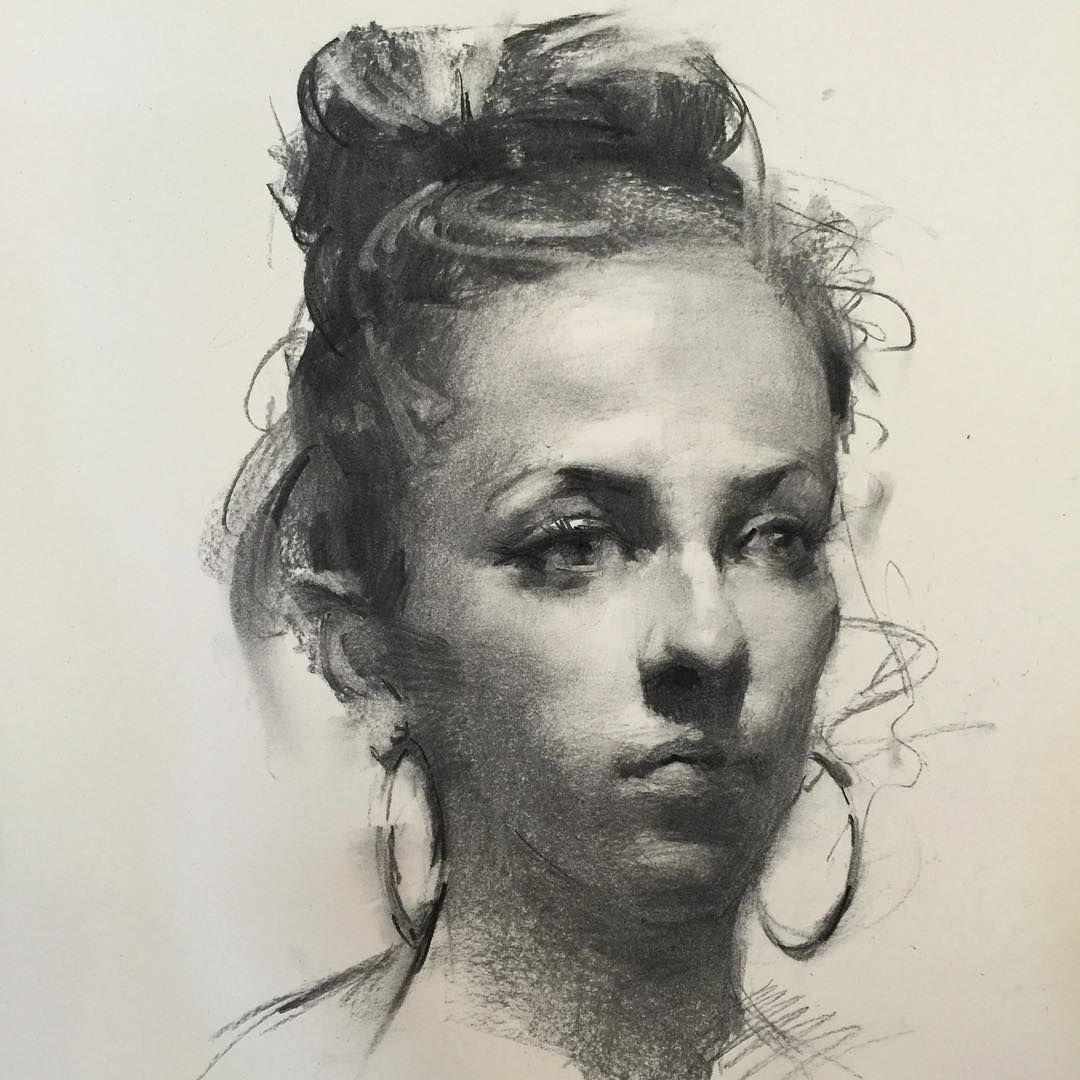 Zhaoming Wu | Portrait drawing, Charcoal portraits