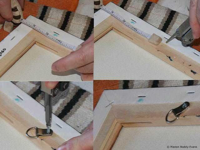 Hang Your Painting Using Wire And D Rings Hanging Heavy Mirror