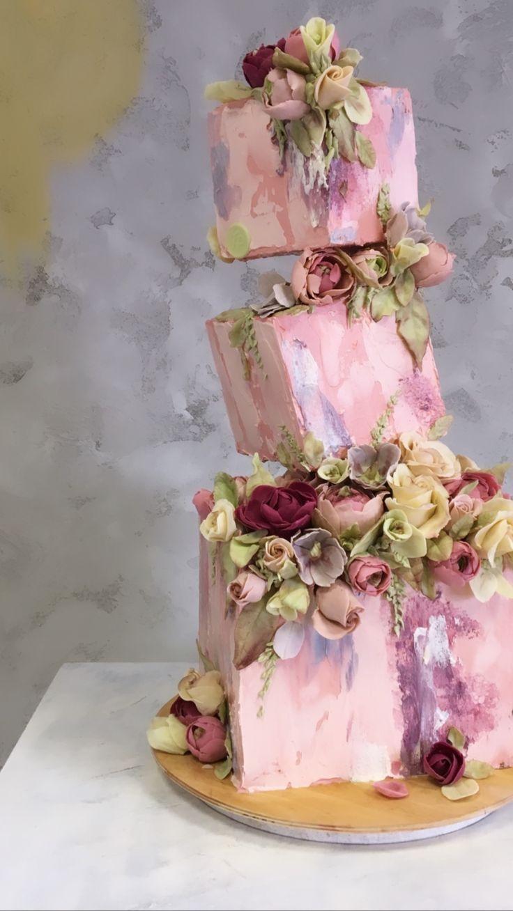 Tolle Hochzeitstorte !! Die auf den Kopf gestellte Schwerkraft trotzt Kuchen, die so cool sind! #cak …