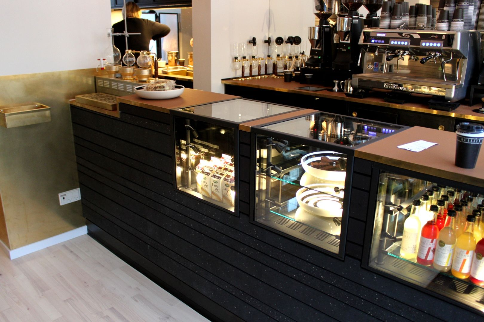 khler coffee aarhus denmark design soren vester black inked composite brass and