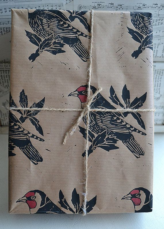 Hand Printed Goldfinch British Bird Gift by HandmadeandHeritage, £2.50