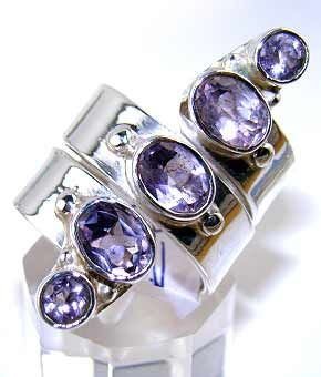 Beautiful item with Amethyst Faceted Gemstone(s) set in pure 925 sterling silver.