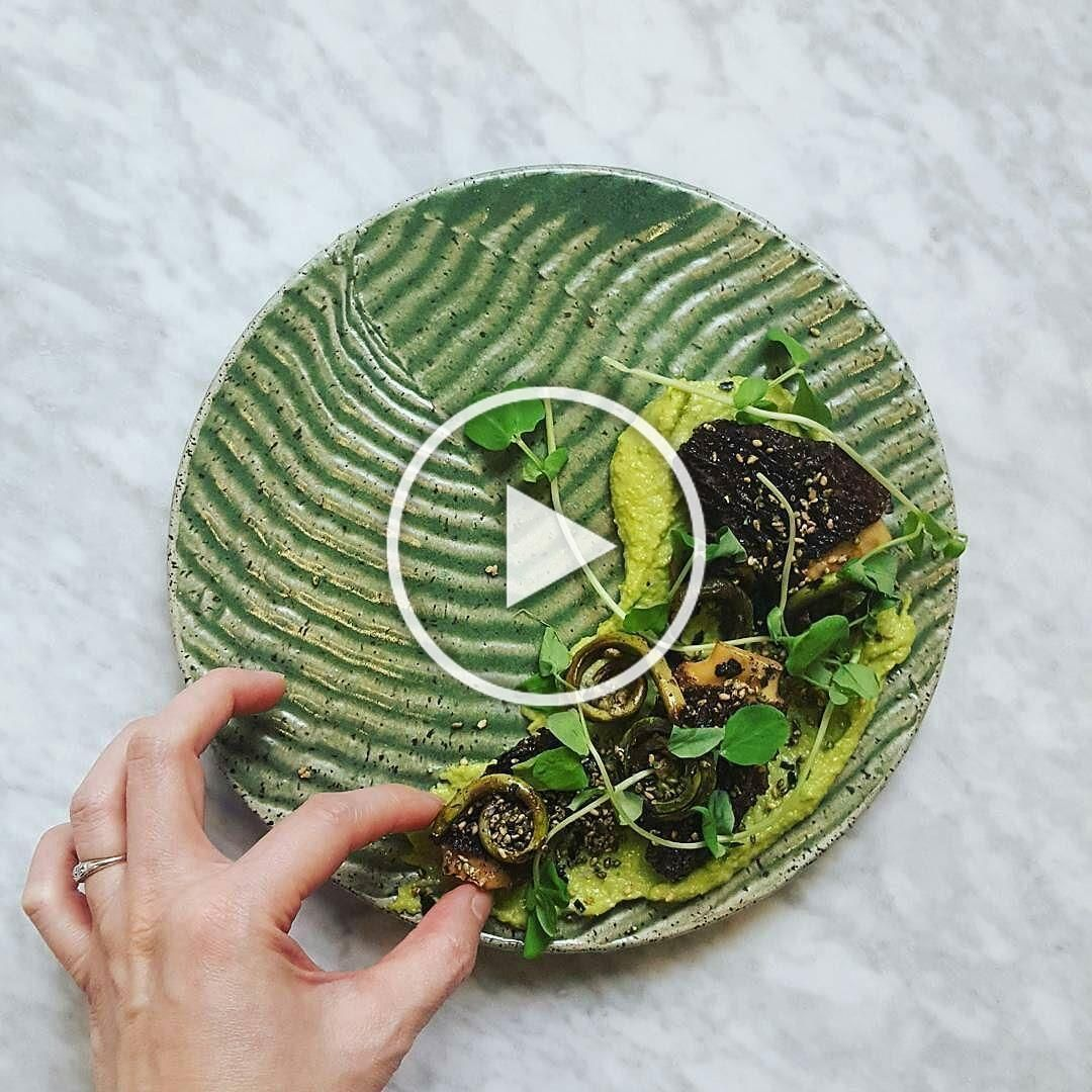 @chefmarydumont demod this awesome looking dish for @foodandwine today. Get more like this in your stomach at her forthcoming restaurant @cultivarboston. . .what is it? yakitori morels  fiddleheads with Meyer lemon furikake on fava bean hummus. . .@suddenly_susan. . . . . . . . .#bostoneats #eaterboston #bostonfoodies #bostonfoodie #bosbloggers #bostonbloggers #bosblogger #bostonfoodies #localfood  #tellnewengland #bosfeed #bosfood #Boston #igersboston #huffposttaste #buylocalma #eatlocalma #dri