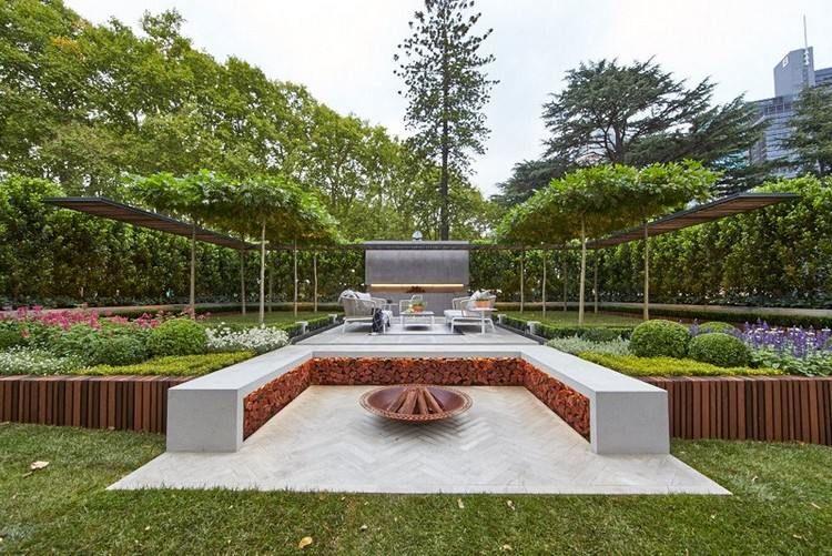 Aménagement jardin extérieur – conseils utiles en 20 photos | Banc ...