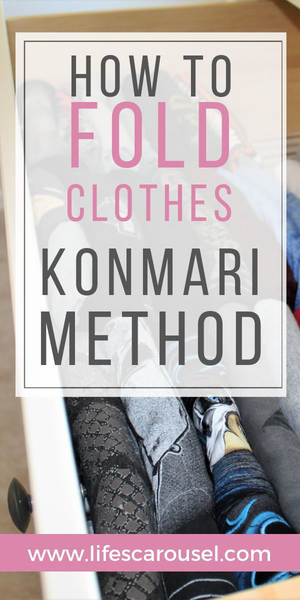 KonMari Folding - EXACTLY How to Fold Clothes like Marie Kondo #foldingclothes