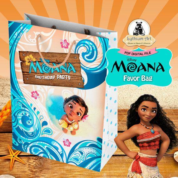 MOANA Party Bag Moana Birthday Instant Download Printable Treat