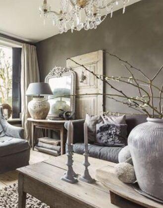 R u s t i c c h i c inrichting pinterest landelijk wonen voor het huis en interieur - Grijze hoofdslaapkamer ...