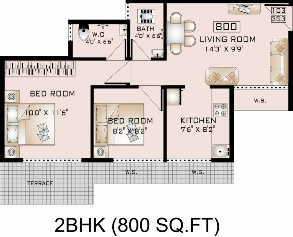 Image result for 800 sq ft house plan House plans, Small