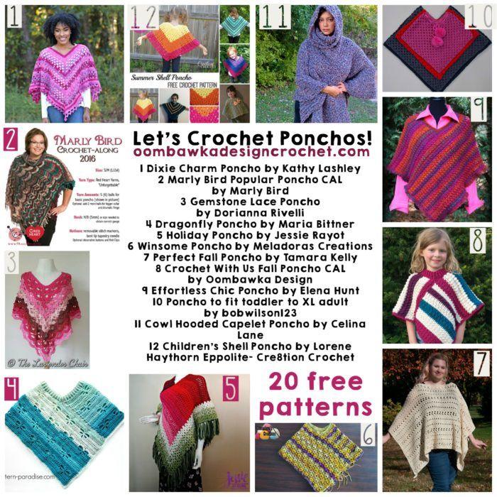 Let\'s Crochet Ponchos! | Ponchos y Tejido