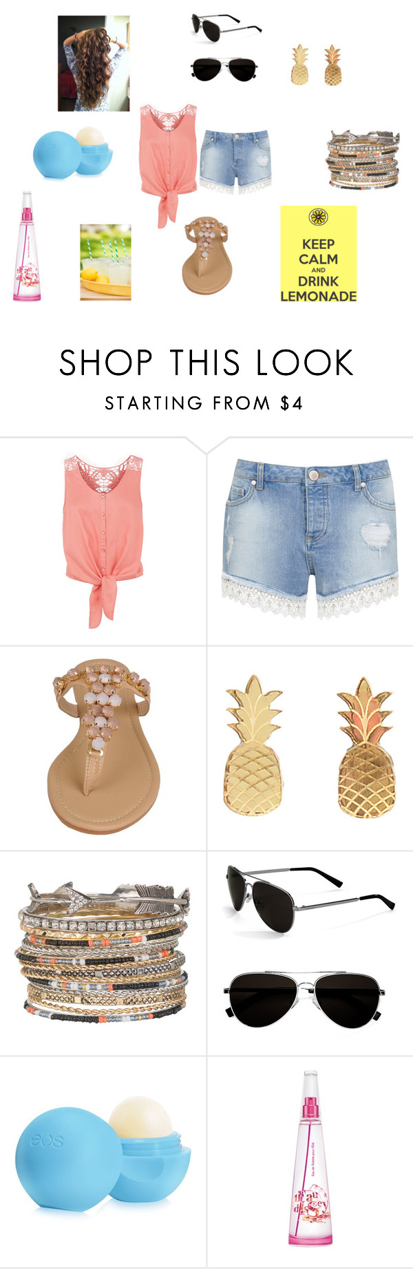 """""""Summer Beauty"""" by apollar2 ❤ liked on Polyvore featuring Monsoon, Miss Selfridge, Vinca, maurices, Calvin Klein, Eos and Issey Miyake"""