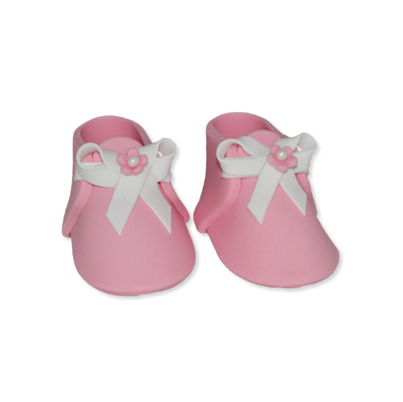 Beautiful Pink Baby Shoes Edible Decorations For Your Cake Perfect For Baby Showers Or A Gender Reveal Baby Pink Shoes Edible Cake Decorations Baby Shoes