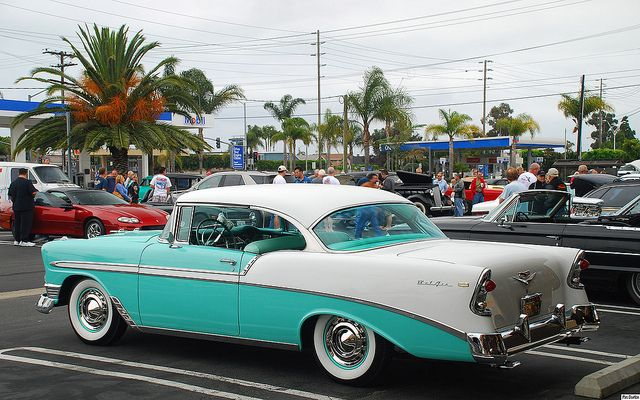 1956 Chevrolet Bel Air Sport Coupe White Over Pinecrest Green Rvl By Pat Durkin Orange County Ca Via Flickr Chevrolet Bel Air Classy Cars Classic Cars