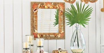 Shell Mirror tropical mirrors