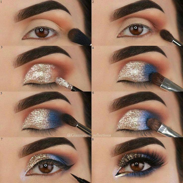 Dia Y Noche Paso A Paso Stepbystepeyemakeup Sombras De Ojos Maquillaje Sombras Azules Maquillaje Ojos Azules