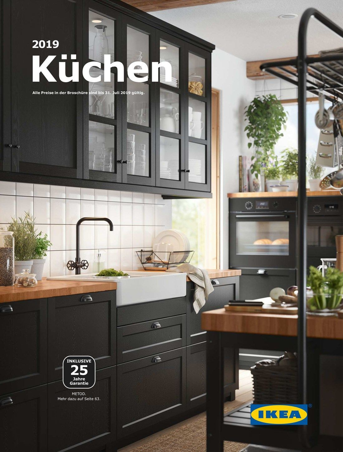 Katalog für 2019 Ikea, Amerikan mutfak, Siyah mutfaklar