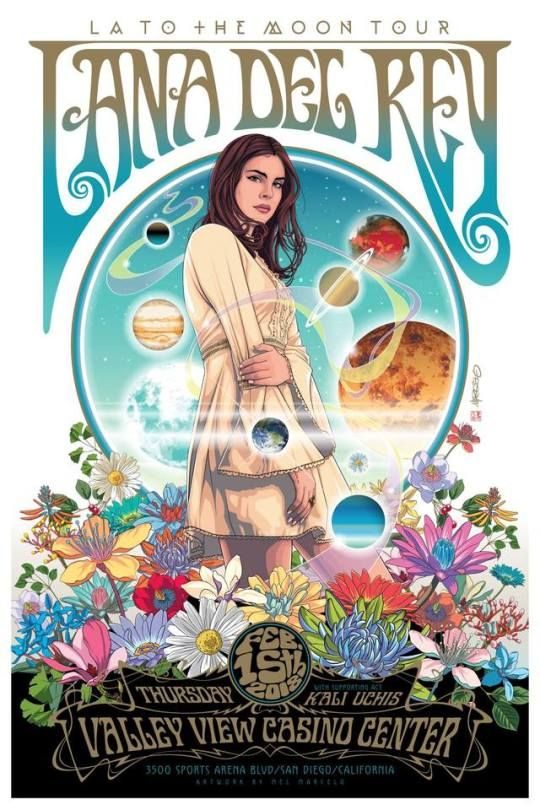 8484f8c9c Lana Del Rey, LA To The Moon Tour Poster By Mel... in 2019 | lana ...