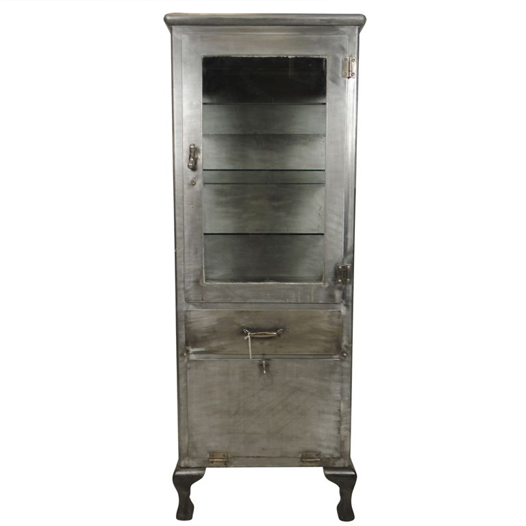 Superieur Industrial Metal U0026 Glass Storage Cabinet