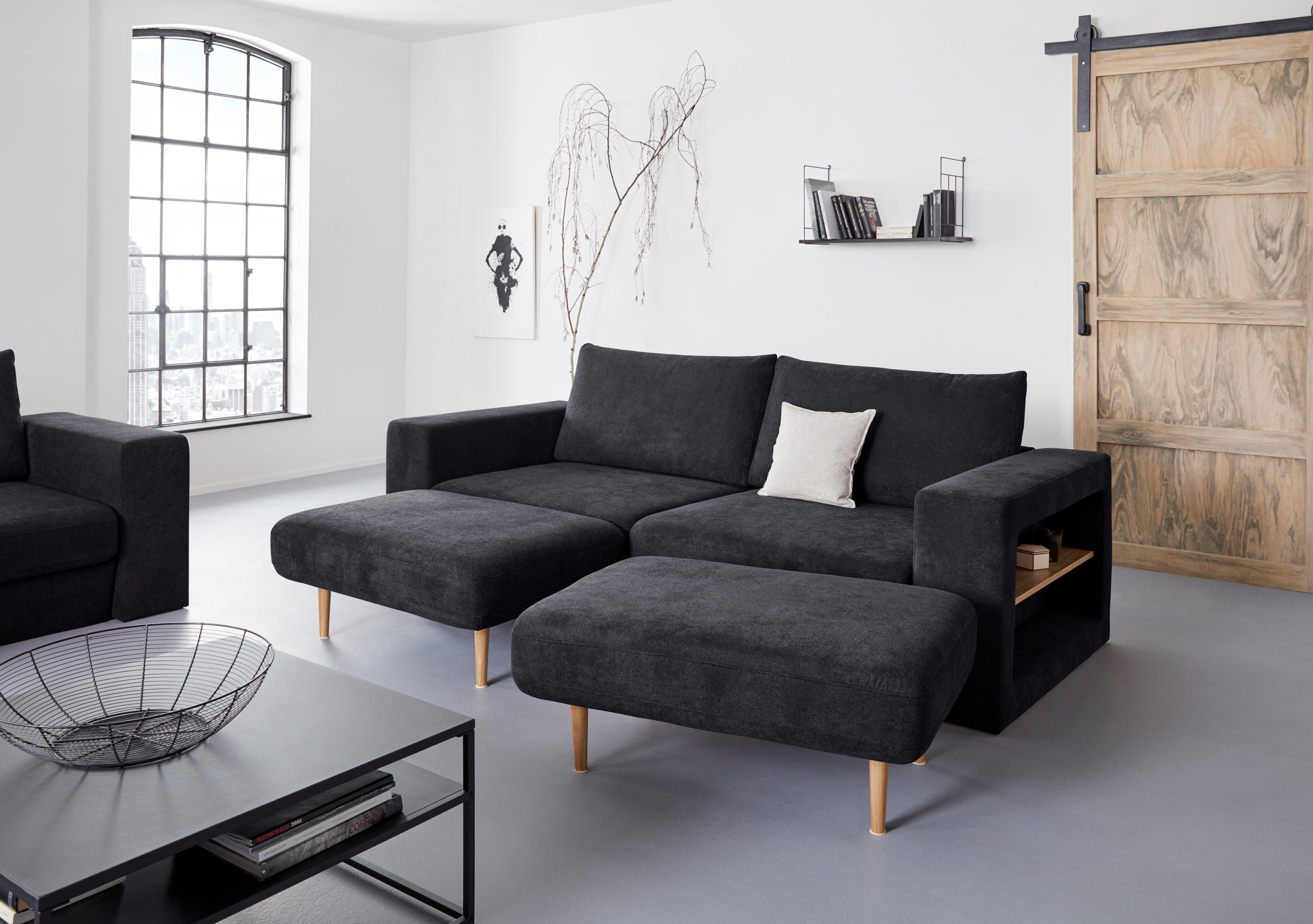 Looks By Wolfgang Joop 4 Sitzer Von Baur Sofa Haus Deko Blaues Sofa