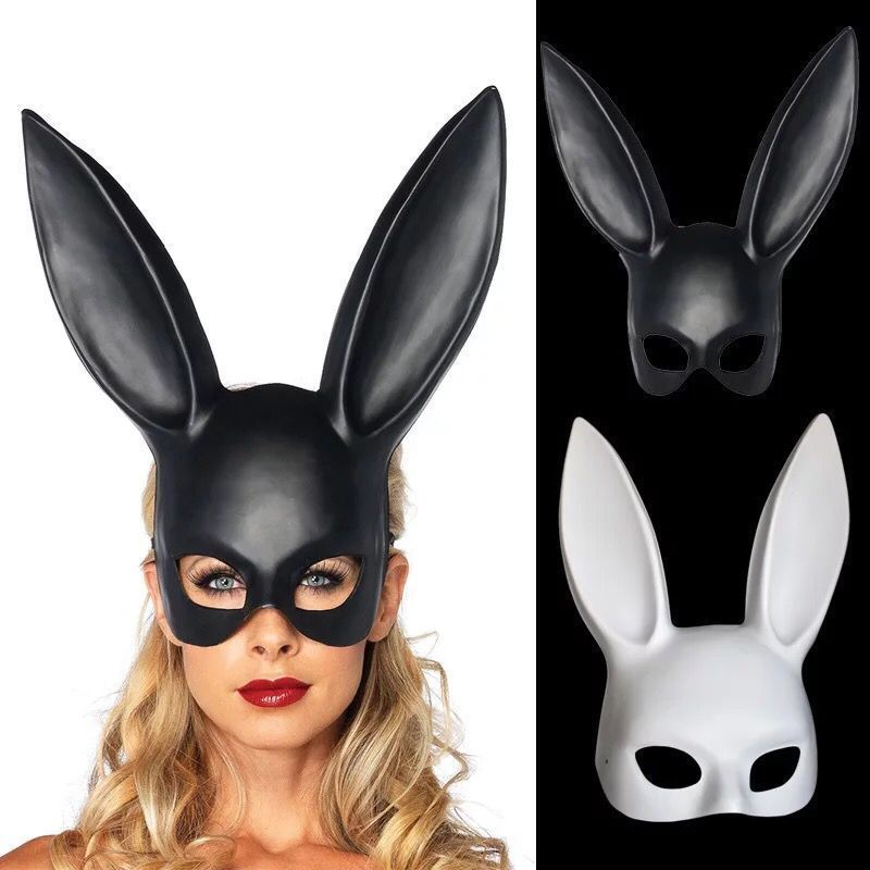 Apparel Accessories Girl's Hair Accessories Aspiring New Fashion Women Lace Rabbit Bunny Ears Veil Hair Accessories Sexy Black Mask Halloween Party Sexy Hair Band Club Cosplay Handsome Appearance