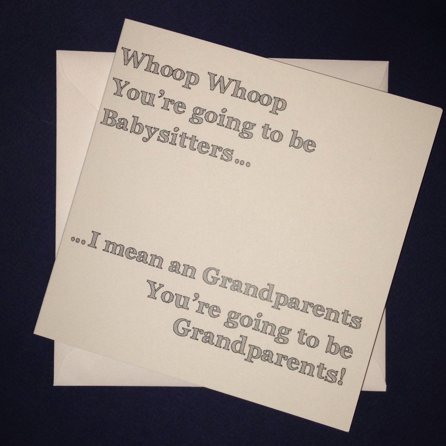 Grandparents Whoop whoop Youre going to be babysitters – Grandparents Announcement Baby