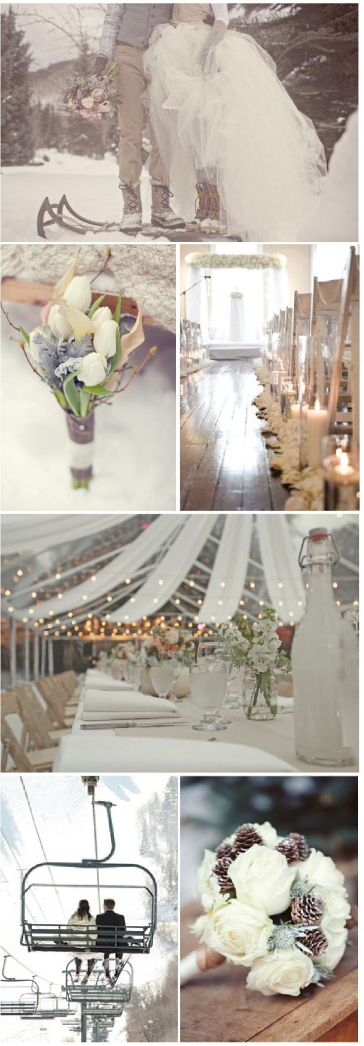 Snow wedding....would have loved this just as much as our beach wedding ♥