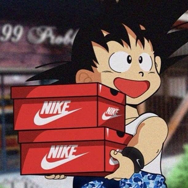 Young Goku From Dragon Ball Wearing Bape Bein Happy For Buyin Nike Dragon Ball Wallpaper Iphone Dragon Ball Wallpapers Dragon Ball Art
