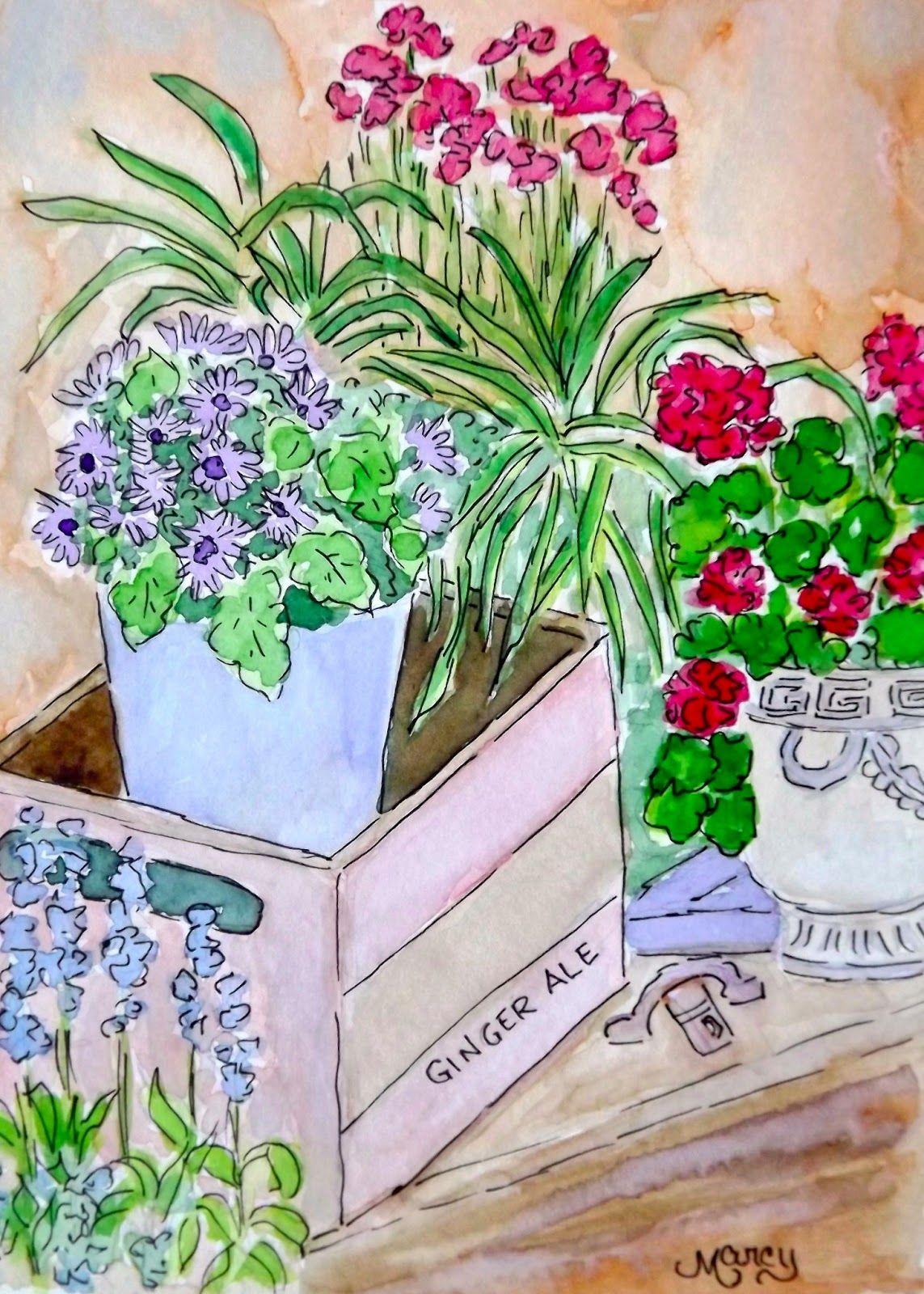 """Marcy Brennan (Born 1951), """"Joyful Flowers"""""""