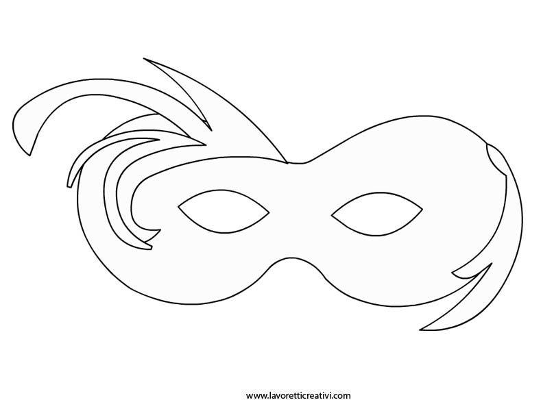 Mascherina da colorare karneval pinterest masking for Maschere da colorare animali