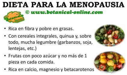 dieta para la menopausia, recomendaciones y pautas de